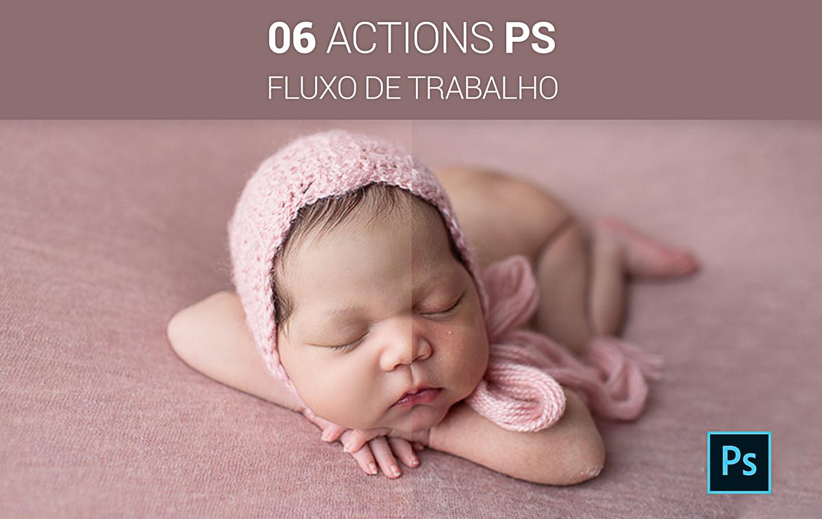 Imagem capa - Actions para Photoshop por Bel Ferreira