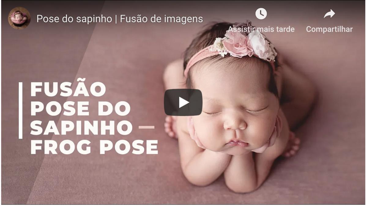 Imagem capa - Fusão de imagem da pose do sapinho por Bel Ferreira