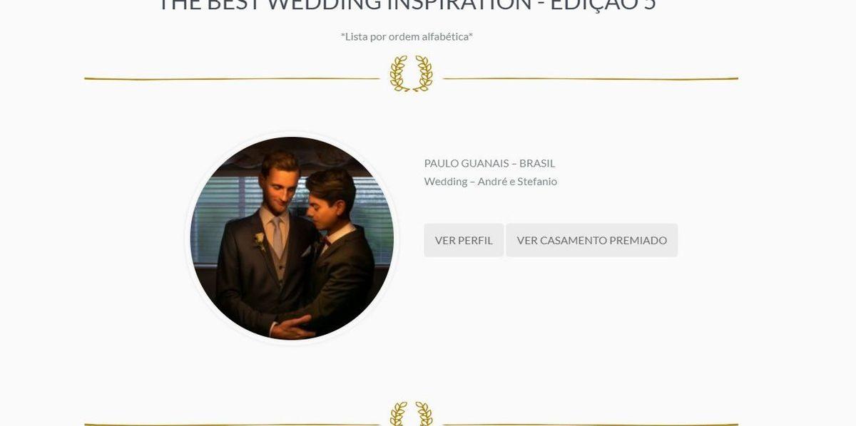 Imagem capa - Semana passada saiu o The Best Wedding e The Best Family por Paulo Guanais - Fotógrafo de Casamento