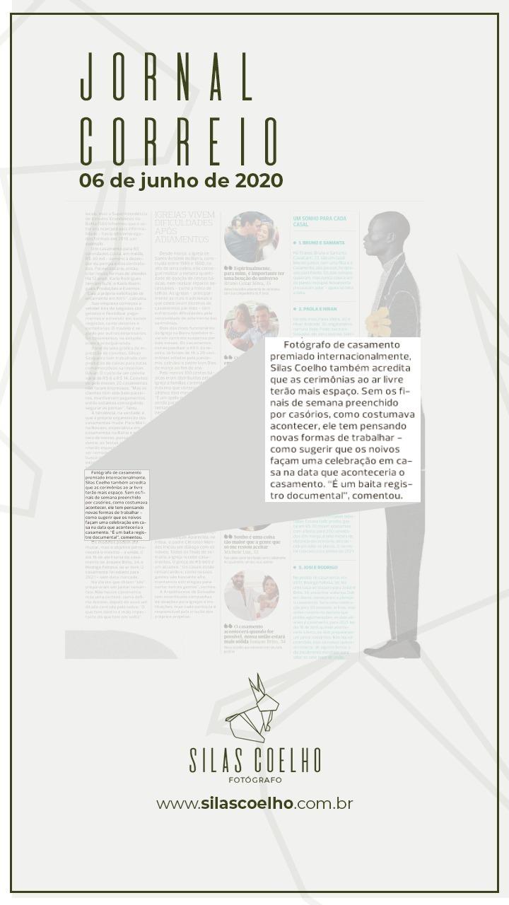 Imagem capa - Jornal Correio | Sim! Mas só depois do corona por Silas Coelho