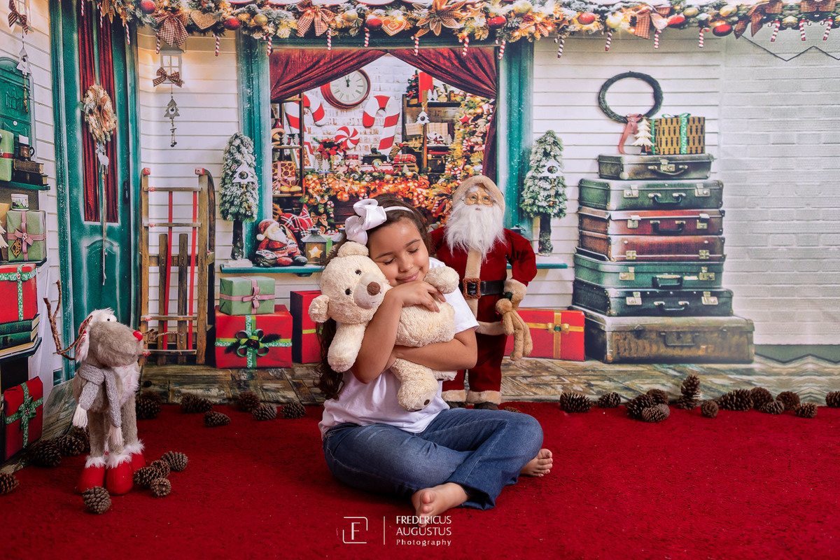 Imagem capa - Ensaio de Natal da Ana Luisa no cenário 3D por FREDERICUS AUGUSTUS DA SILVA