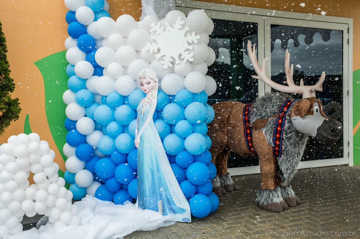 Decoração Frozen, neve, alce da frozen