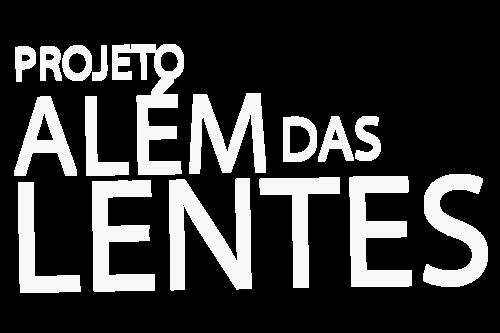 Logotipo de Projeto Além das Lentes