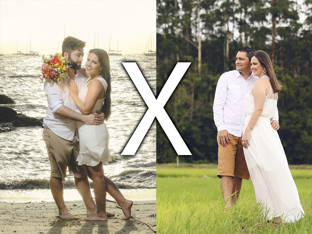 Imagem capa - Fotos na Praia X Fotos no Campo por Chroma Fotografia
