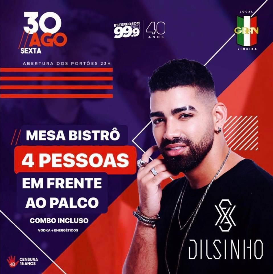 Imagem capa - Dilsinho ao vivo em Limeira! MESA BISTRÔ À VENDA!  por Jefferson Silva