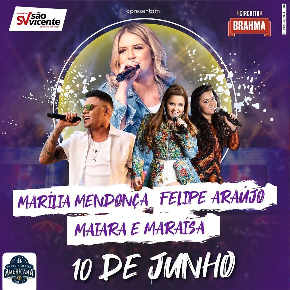 Imagem capa - No primeiro dia da Festa teremos Marília Mendonça, Maiara & Maraísa e Felipe Araújo por Jefferson Silva