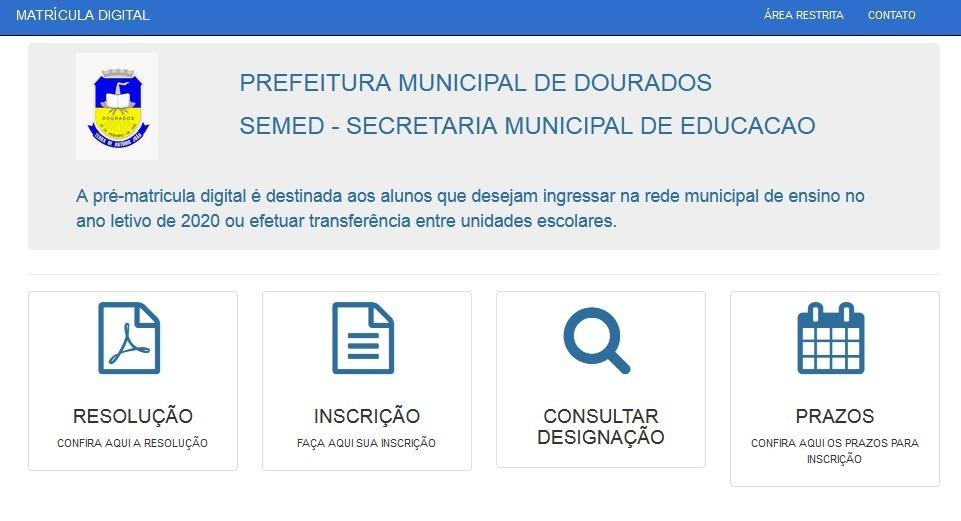 Imagem capa - Prefeitura de Dourados abre nesta quarta matrícula da rede municipal de Educação por EVENTO MS