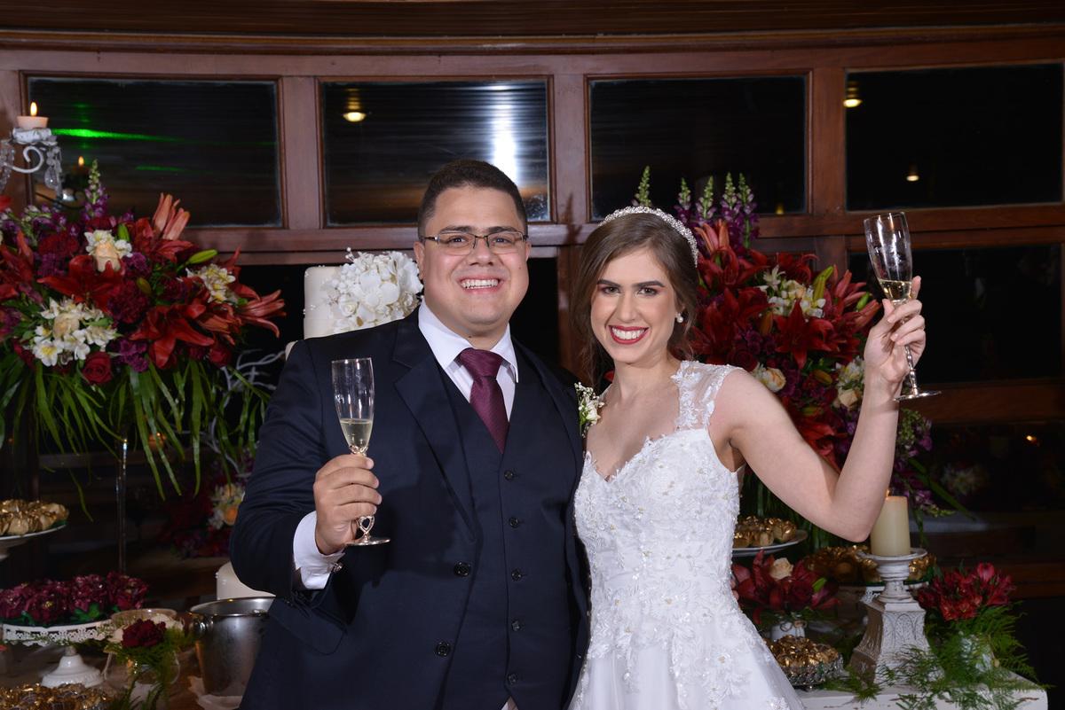 recepção de casamento no salão de festas Gartem Haus