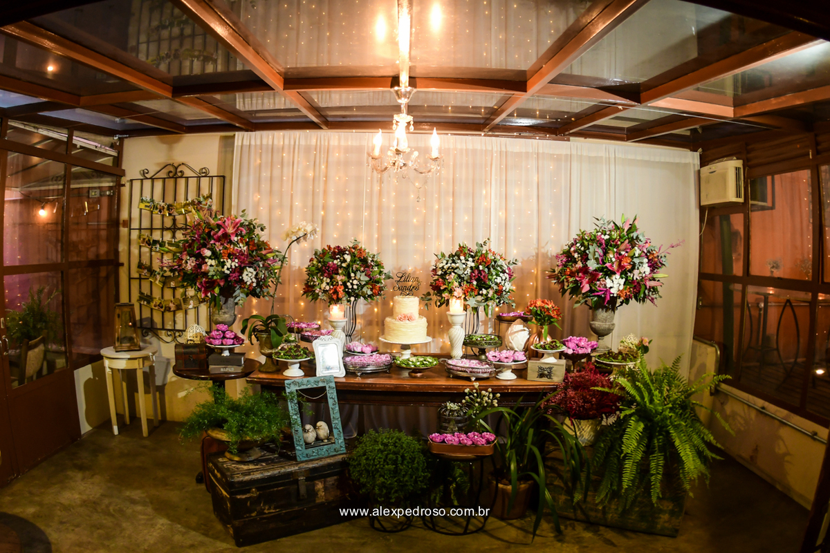Mine Wedding Lilian Sandro Flores Na Varanda