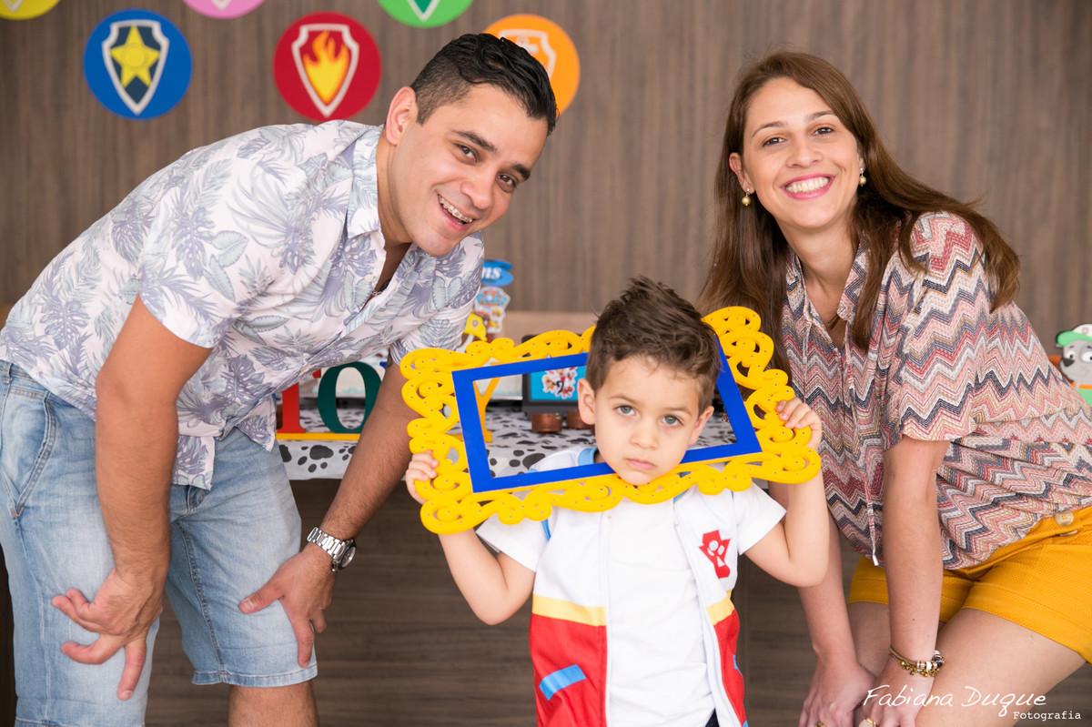 Foto de familia no aniversário infantil