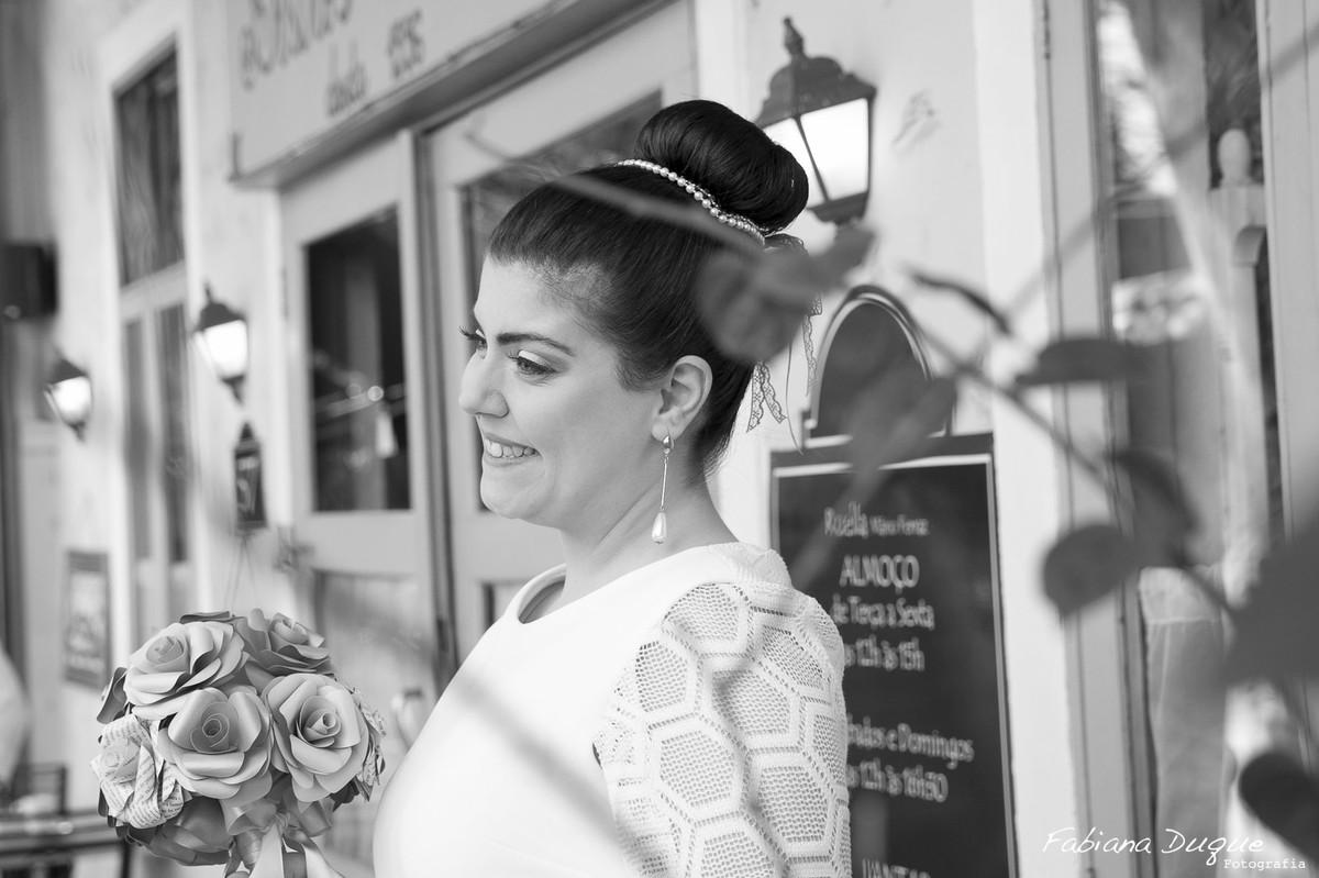 Enfeite de cabelo para noiva