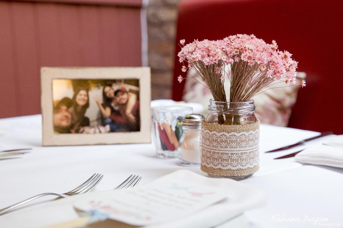 Detalhe da decoração de Mini wedding