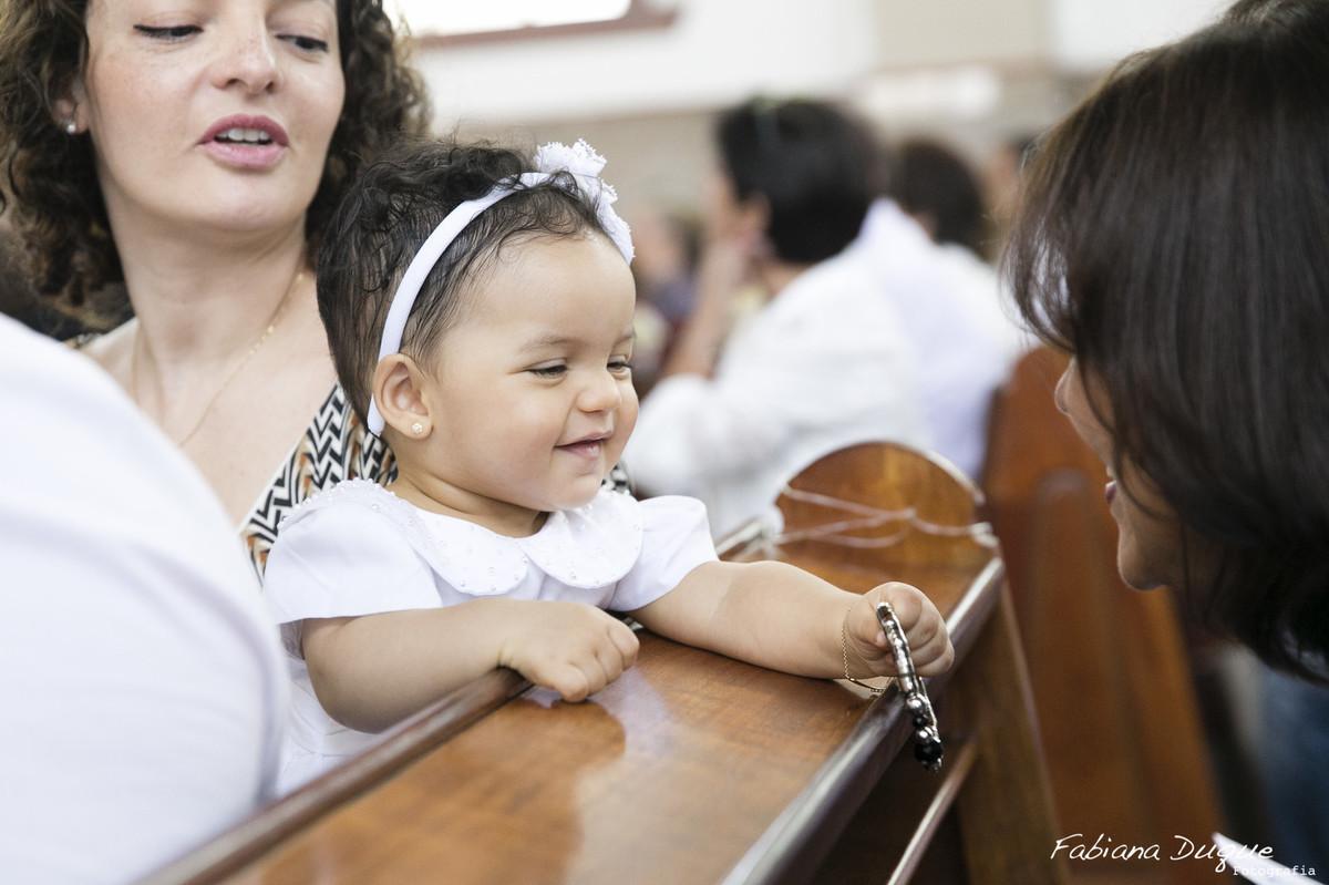 Fotografia de batizado na Paróquia Nossa Senhora Vila Leopoldina, SP