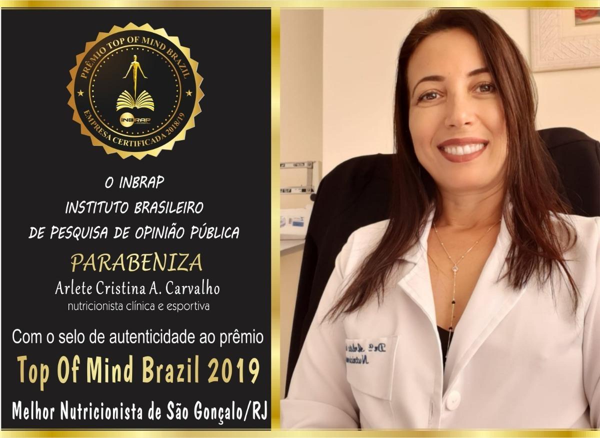 Imagem capa - Prêmio  por Nutricionista Arlete Cristina Carvalho