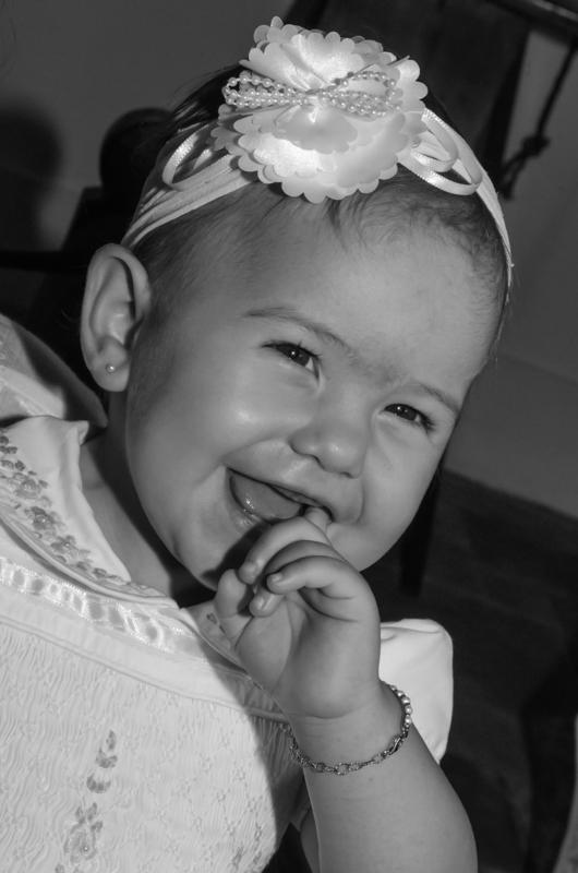 Fotografias do batizado da Stella. Fotografando batizado de menina