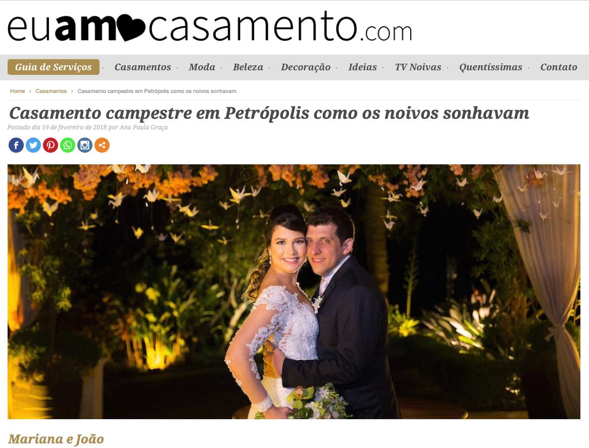 Imagem capa - Casamento Mariana e João no site EuAmoCasamento.com por Bruno Mattos Fotografia