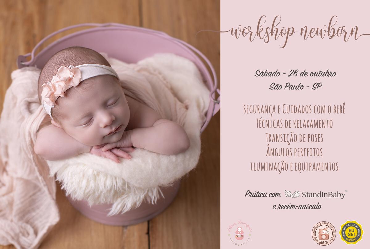 Imagem capa - Workshop de Fotografia Newborn -  2019 por Aline Langoni