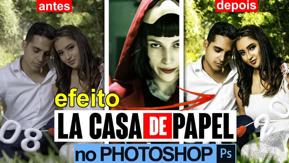 Imagem capa - Efeito La Casa de Papel (Cinema): como fazer no Photoshop CC por CRIATIVUS Foto e Vídeo