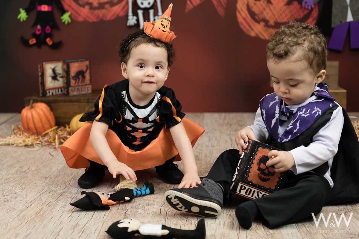 ensaio temático infantil halloween dia das bruxas estúdio wewfoto wewfotografia