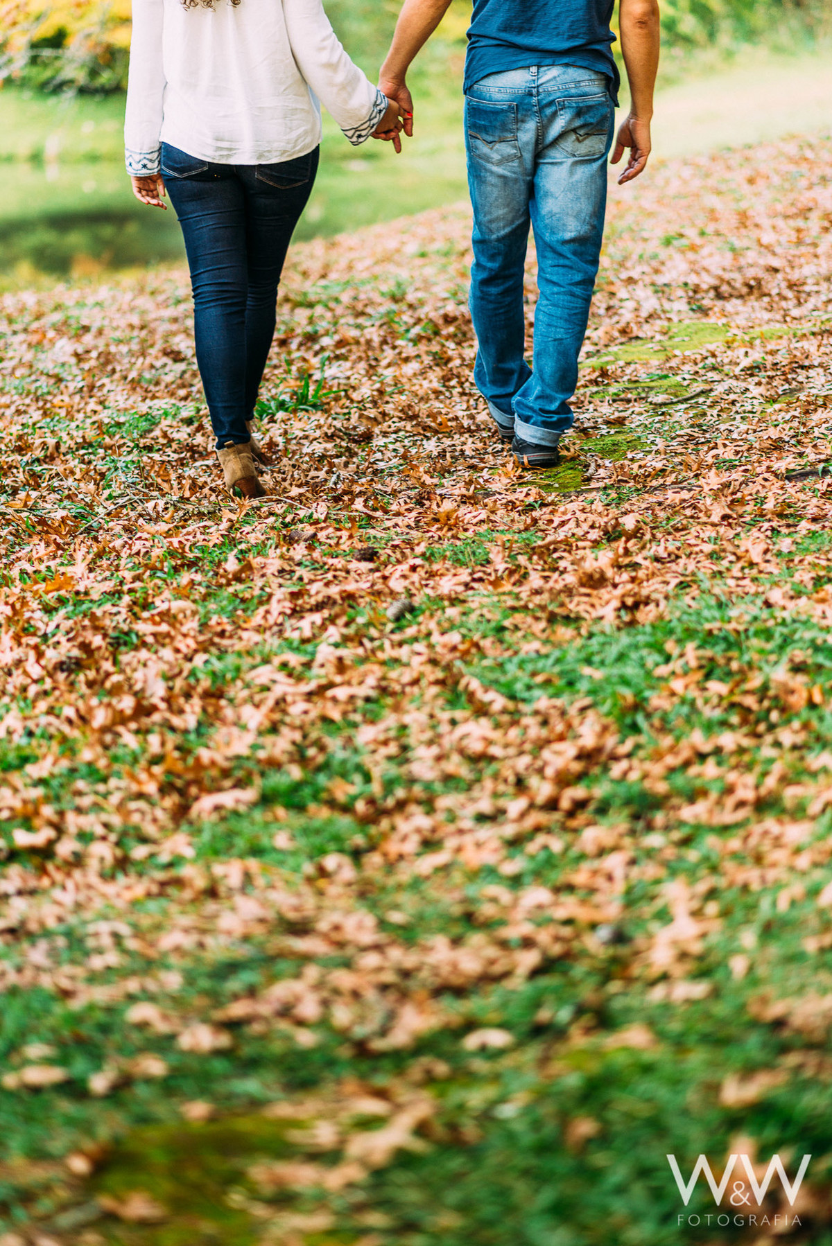 ensaio pre wedding campos do jordao sp horto florestal folhas outono