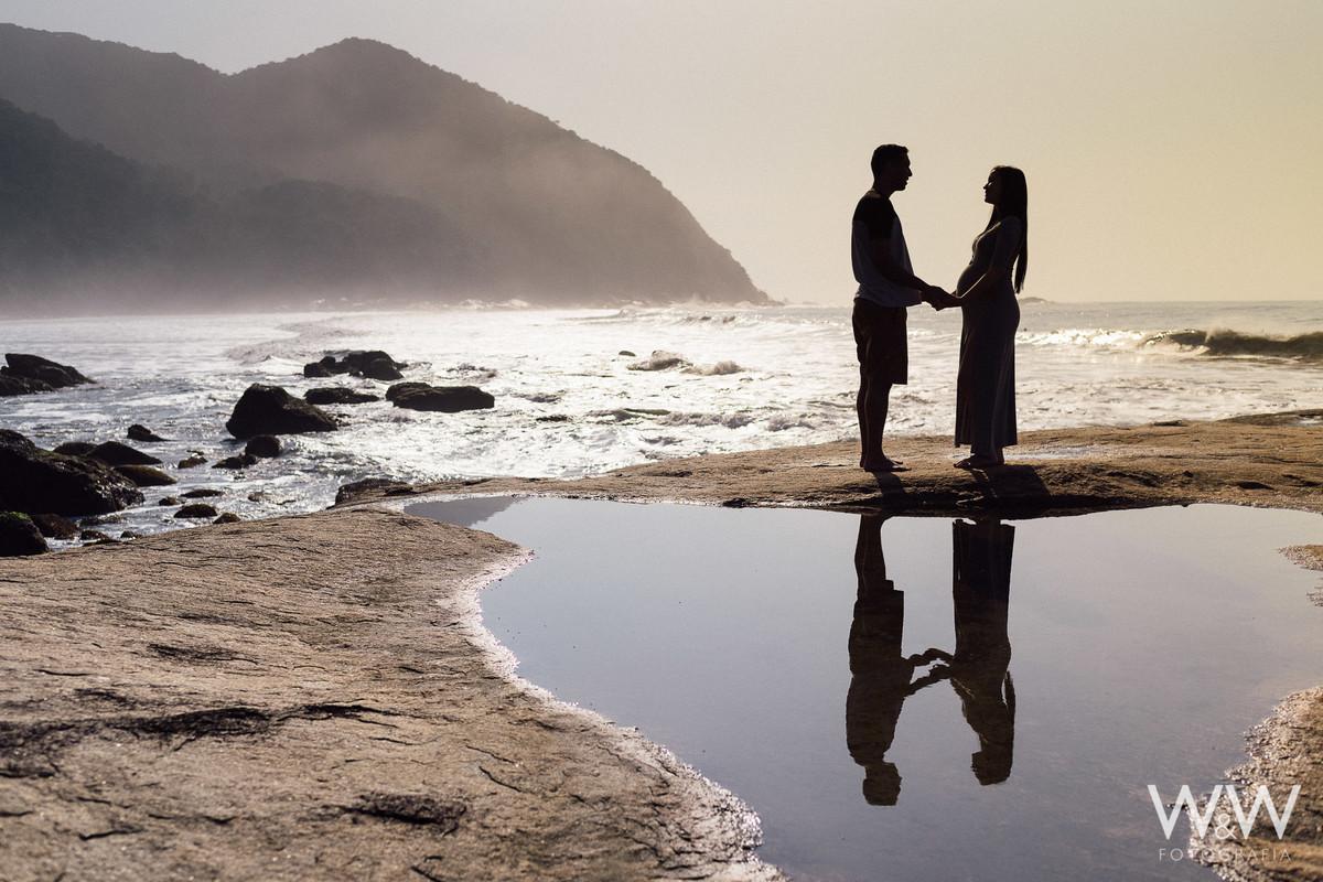 ensaio gestante gestacao casal praia iporanga guaruja sao paulo sp