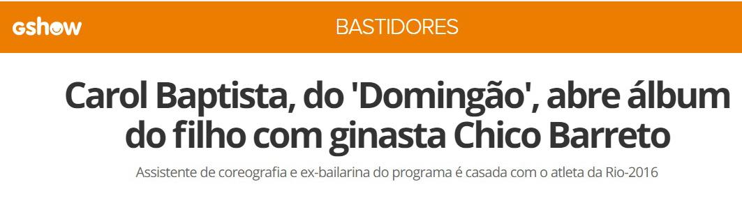 Imagem capa - Medalhista olímpico Chico Barreto apresenta o primogênito! por Thalita Castanha