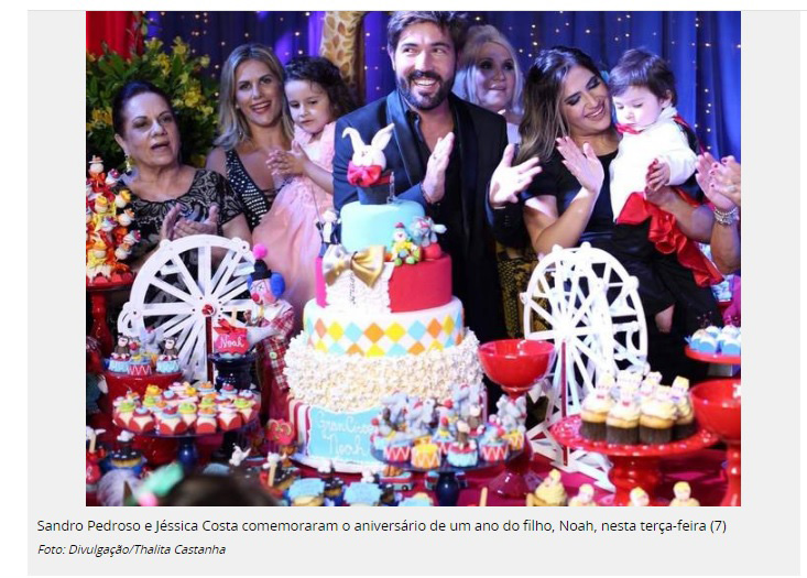 Imagem capa - Noah comemora o primeiro aniversário ao lado da mãe Jéssica Costa e do pai Sandro Pedroso! por Thalita Castanha