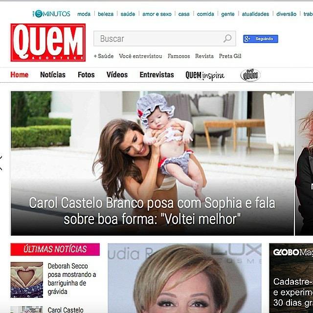 Imagem capa - CAROL CASTELO BRANCO POSA COM A FILHA SOPHIA por Thalita Castanha