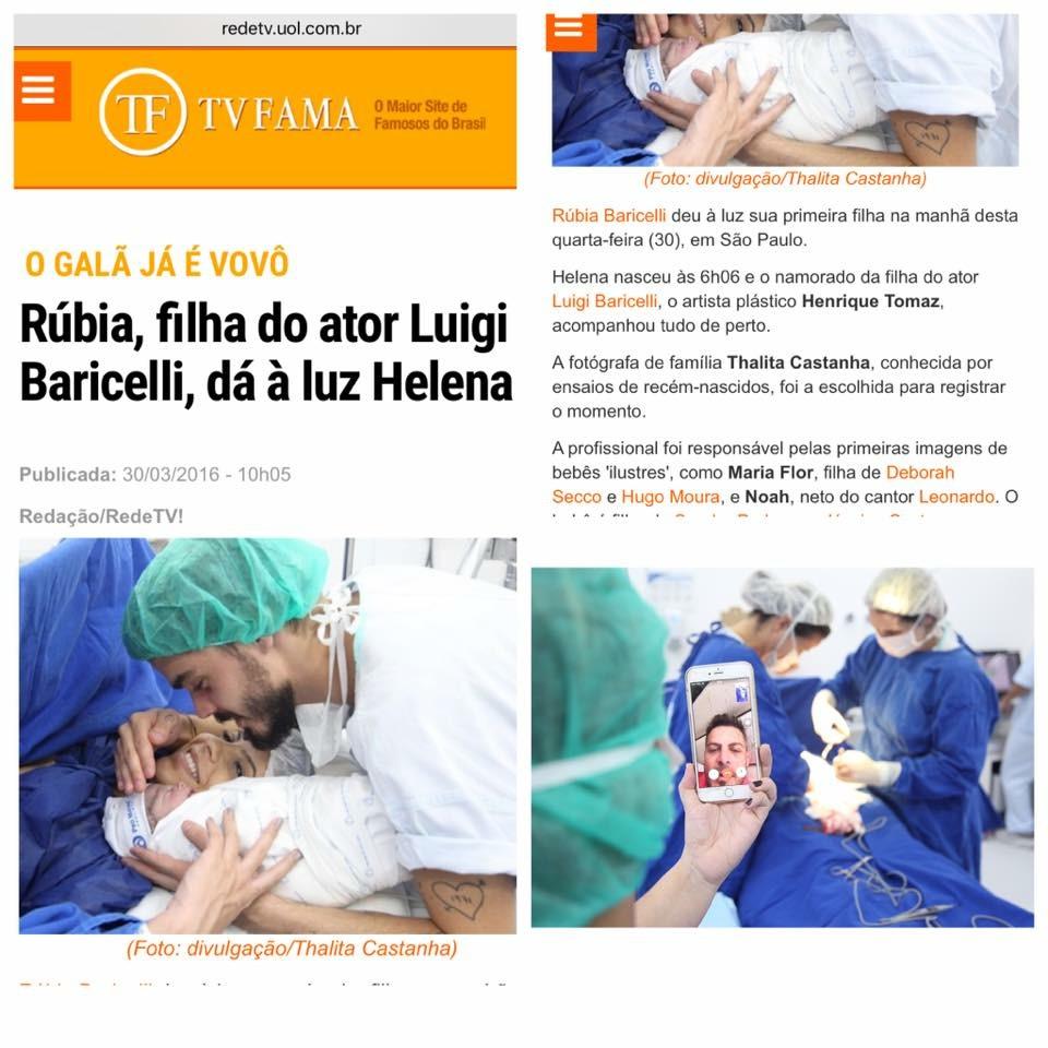 Imagem capa - Rúbia Baricelli dá à luz sua primeira filha. por Thalita Castanha