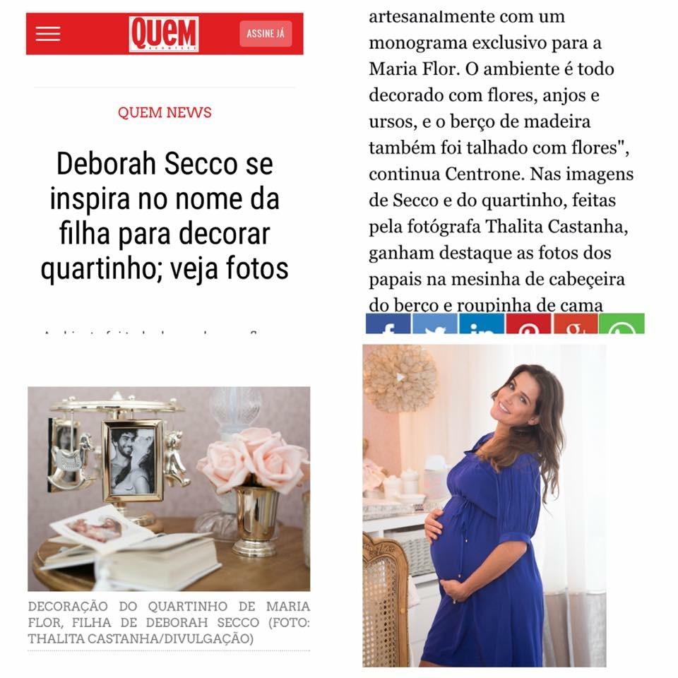 Imagem capa - Deborah Secco se inspira no nome da filha para decorar quartinho por Thalita Castanha