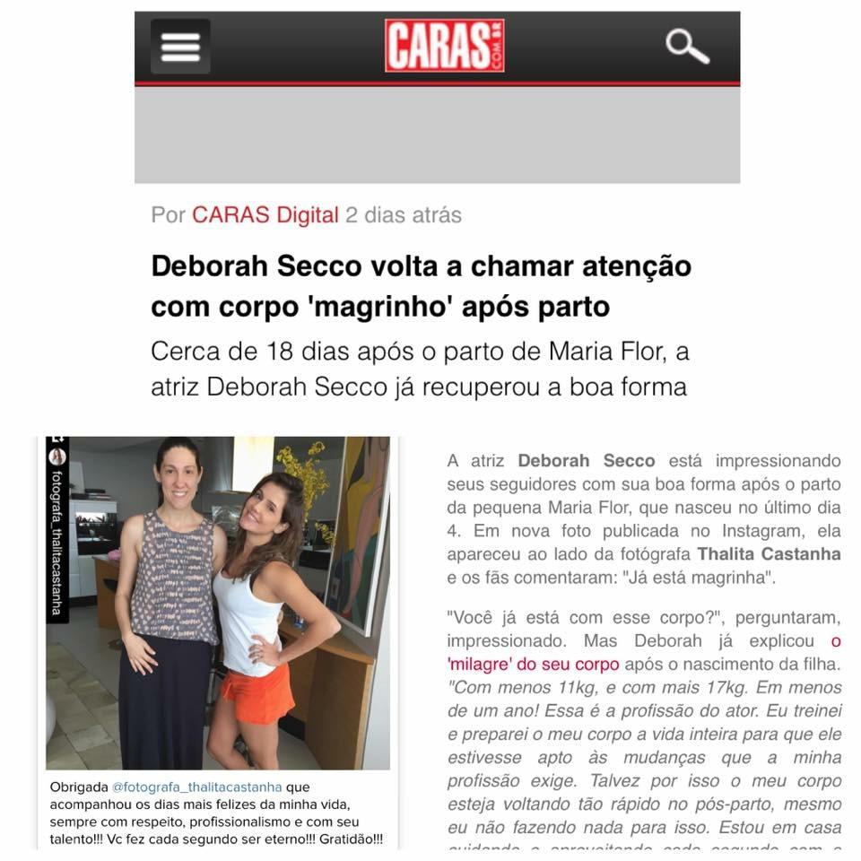 Imagem capa - Deborah Secco volta a chamar a atenção com 'corpo' após parto por Thalita Castanha