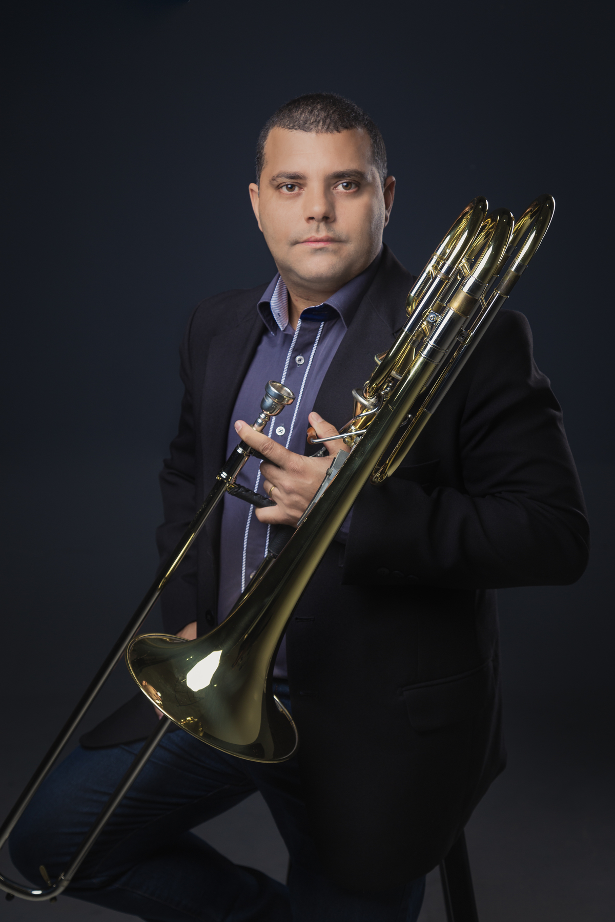 Posicionamento de Imagem do Maestro e Trombonista Helio Rodrigues