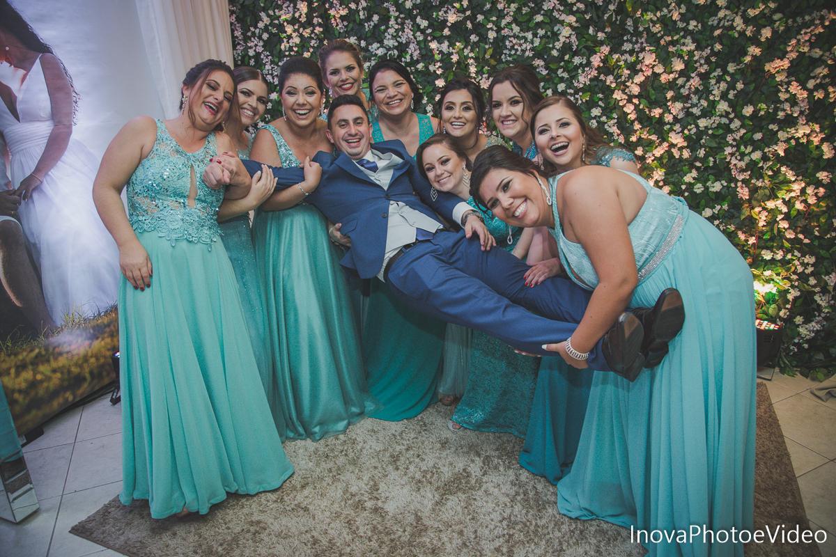 Jean Guilherme, Inova photo e video, o melhor fotografo, casamento, Igreja Matriz de Biguaçu, madrinhas