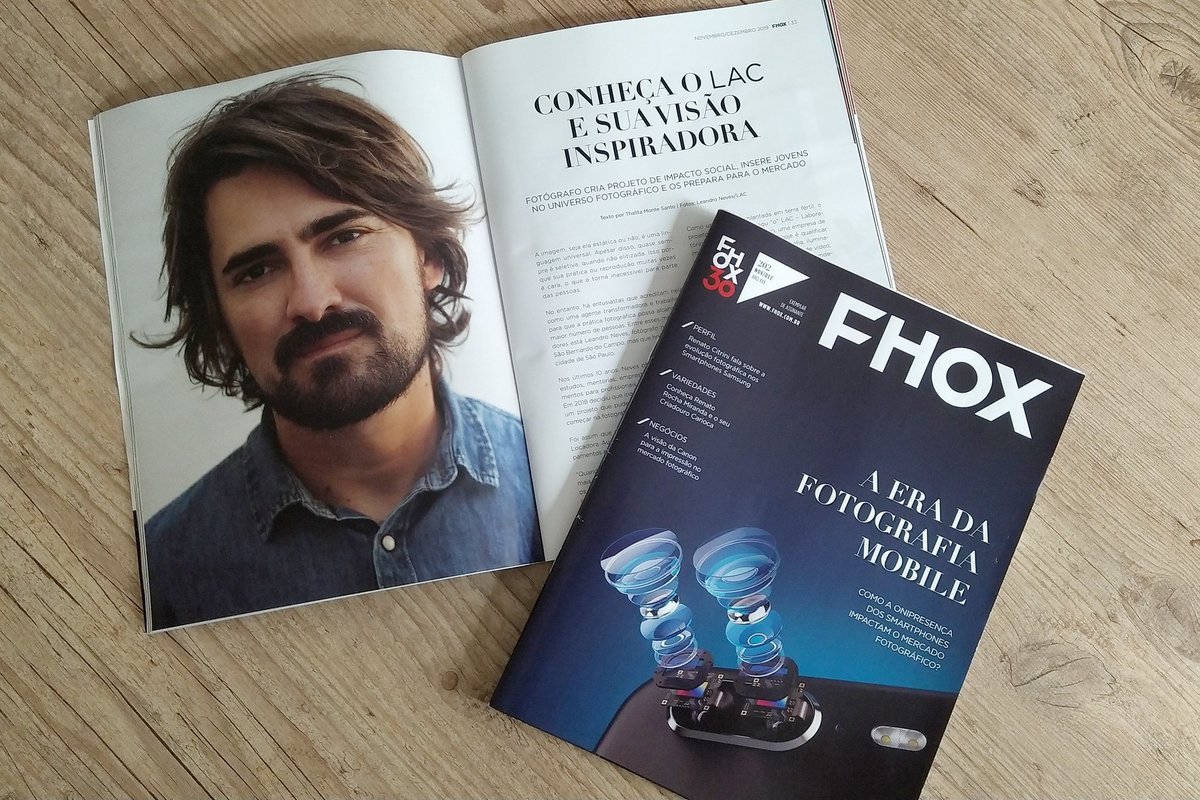 Imagem capa - LAC é matéria na Revista FHOX por LAC