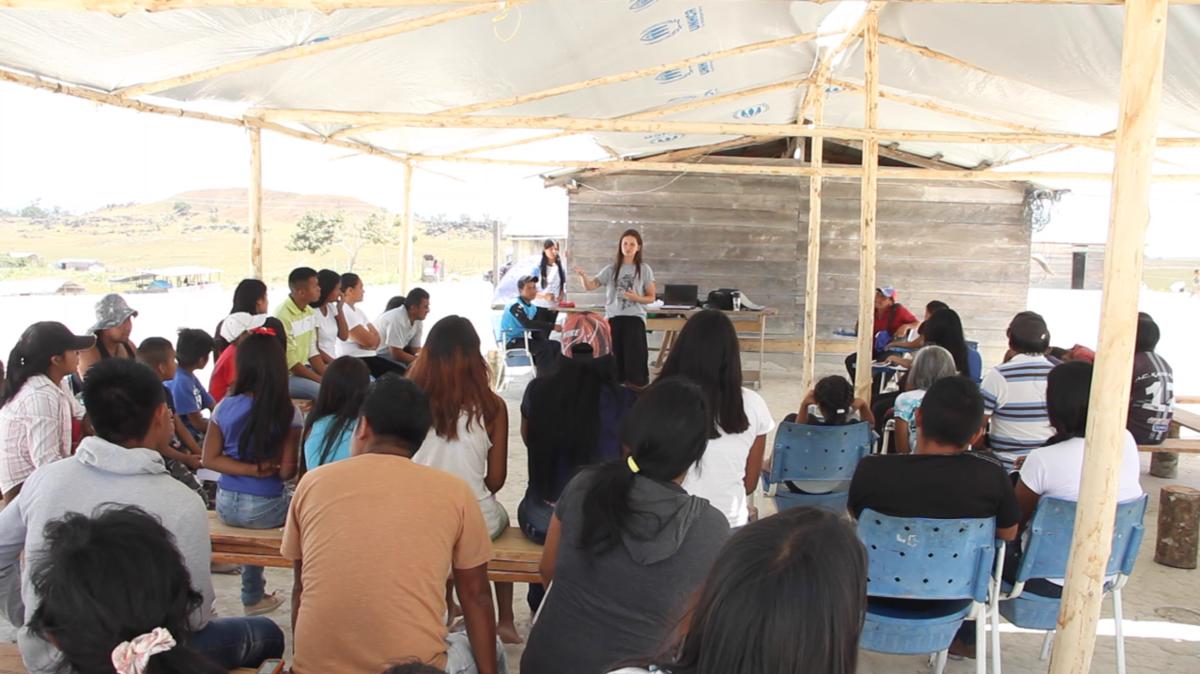 Imagem capa - LAC, ONU e Além das Lentes  trabalhando com refugiados em Pacaraima por LAC