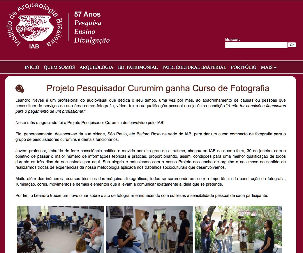 Imagem capa - LAC oferece curso de fotografia em projeto social no Rio de Janeiro por LAC