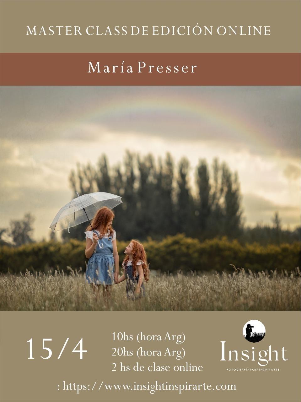 Imagem capa - MasterClass Edición Online por Maria Del Valle Presser