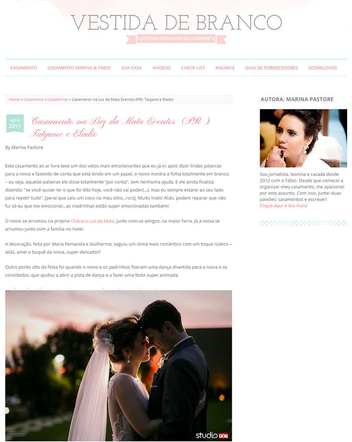 Imagem capa - Casamento Taty e Eladio – Blog Vestida de Branco por Studio ONE