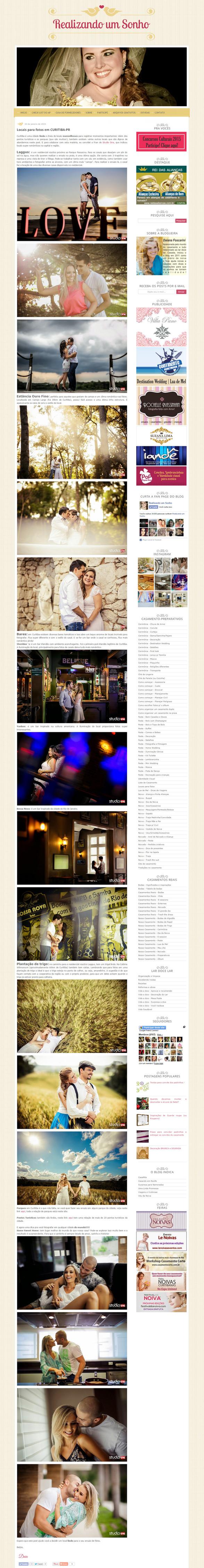 Imagem capa - Dicas de local para fotografar o seu ensaio por Studio ONE