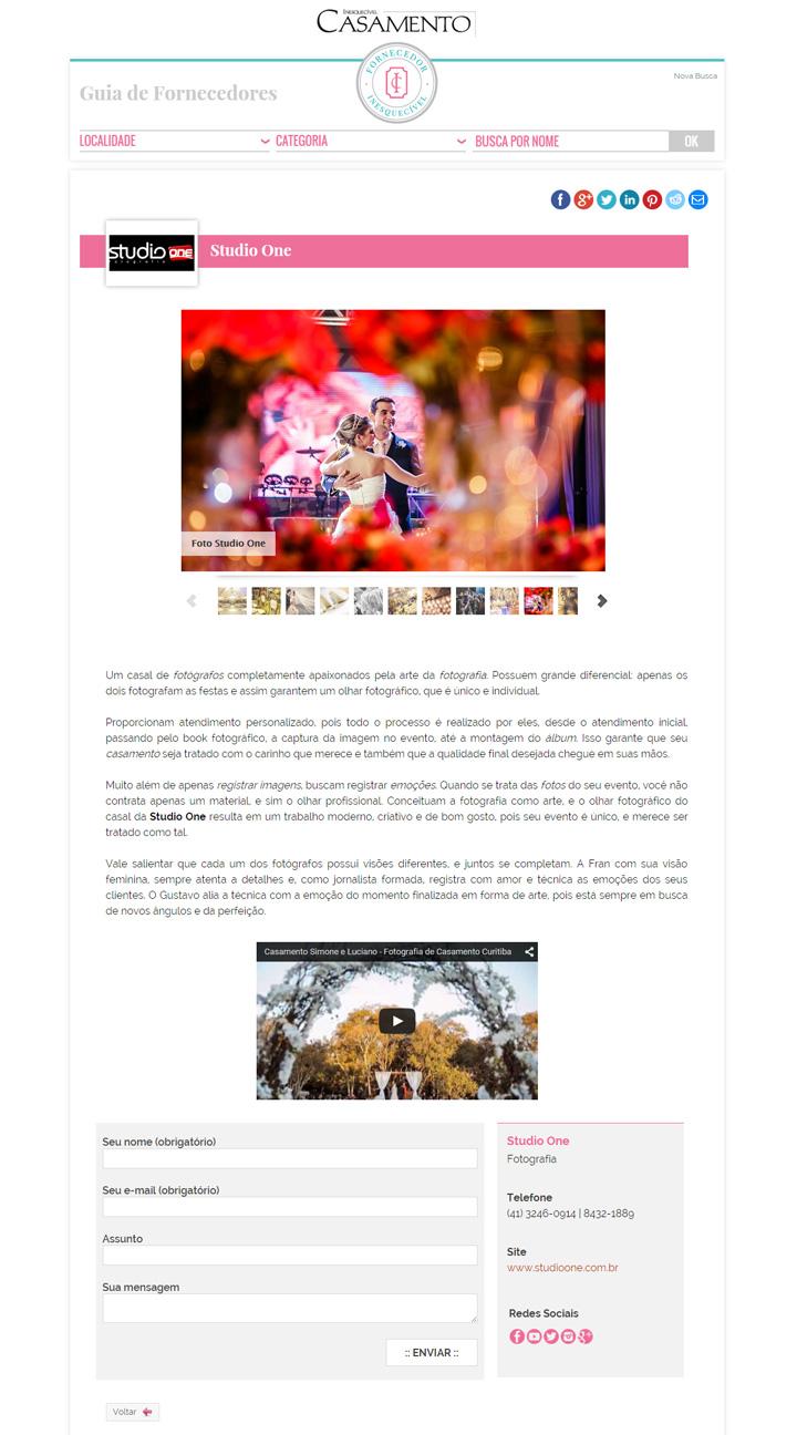 Imagem capa - Somos Fornecedores Inesquecíveis por Studio ONE