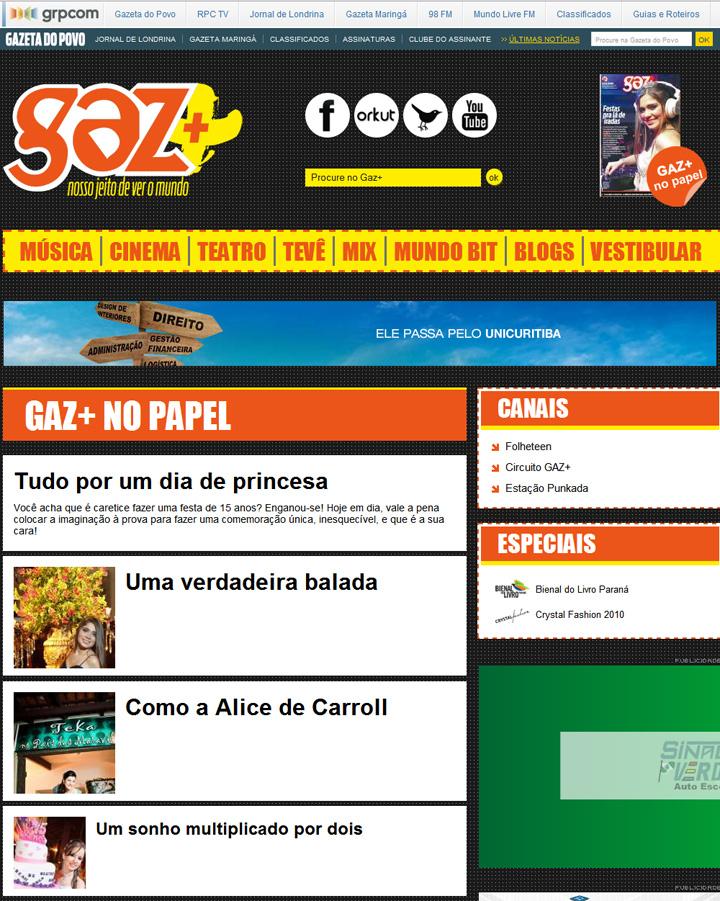 Imagem capa - Matéria sobre Festa de 15 Anos na Gazeta do Povo por Studio ONE