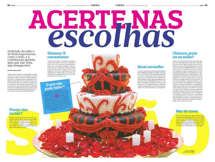 Imagem capa - Matéria sobre Festas de 15 Anos – Jornal O Liberal – Americana-SP por Studio ONE