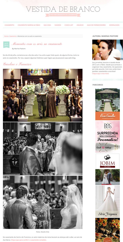 Imagem capa - Avós no Casamento por Studio ONE