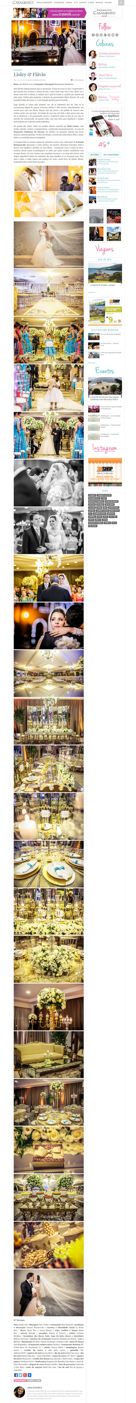 Imagem capa - Lisley e Flavio no site da Inesquecível Casamento por Studio ONE