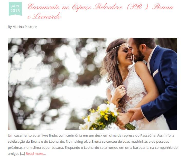 Imagem capa - Casamento Bruna e Leo no Blog Vestida de Branco por Studio ONE