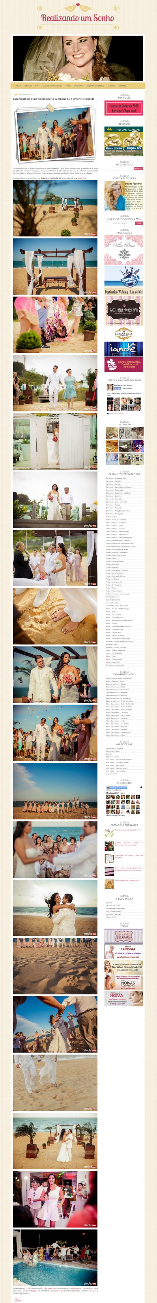 Imagem capa - Casamento da Simone e do Eduardo no Blog Realizando um Sonho por Studio ONE