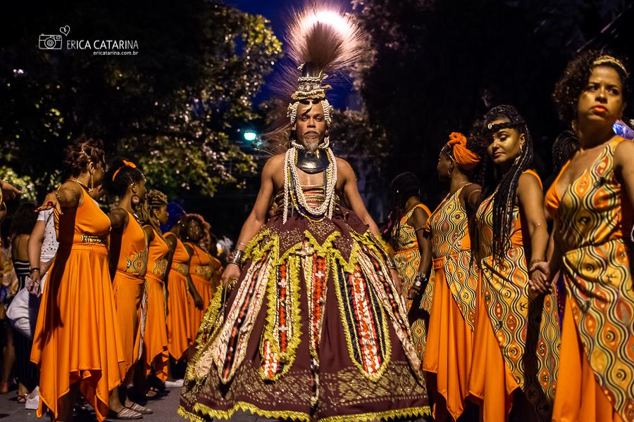 Imagem capa - {SP} Bloco Afro Afirmativo Ilu Inã no carnaval de rua de São Paulo por Erica Catarina Pontes