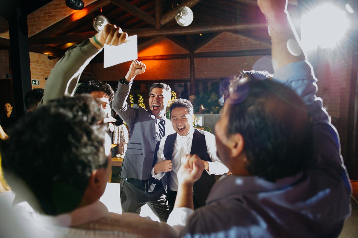 celebração da chegada na festa