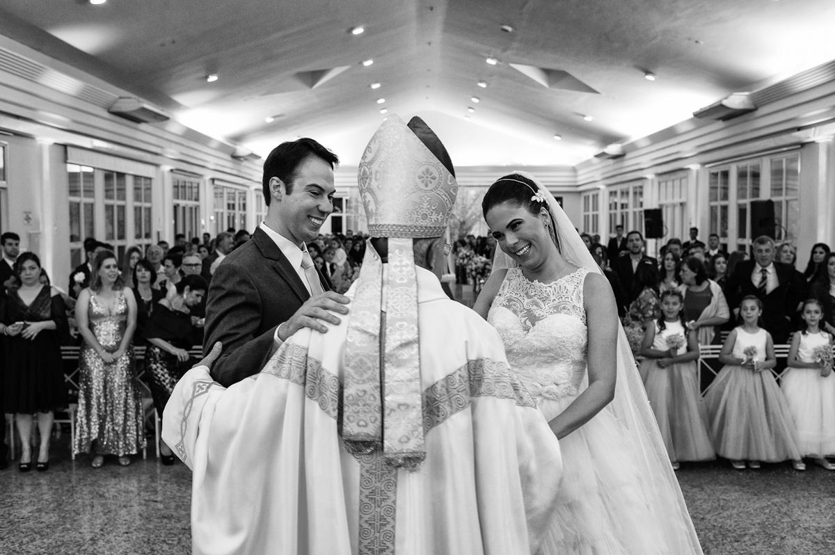 Celebração da igreja brasileira para casamento
