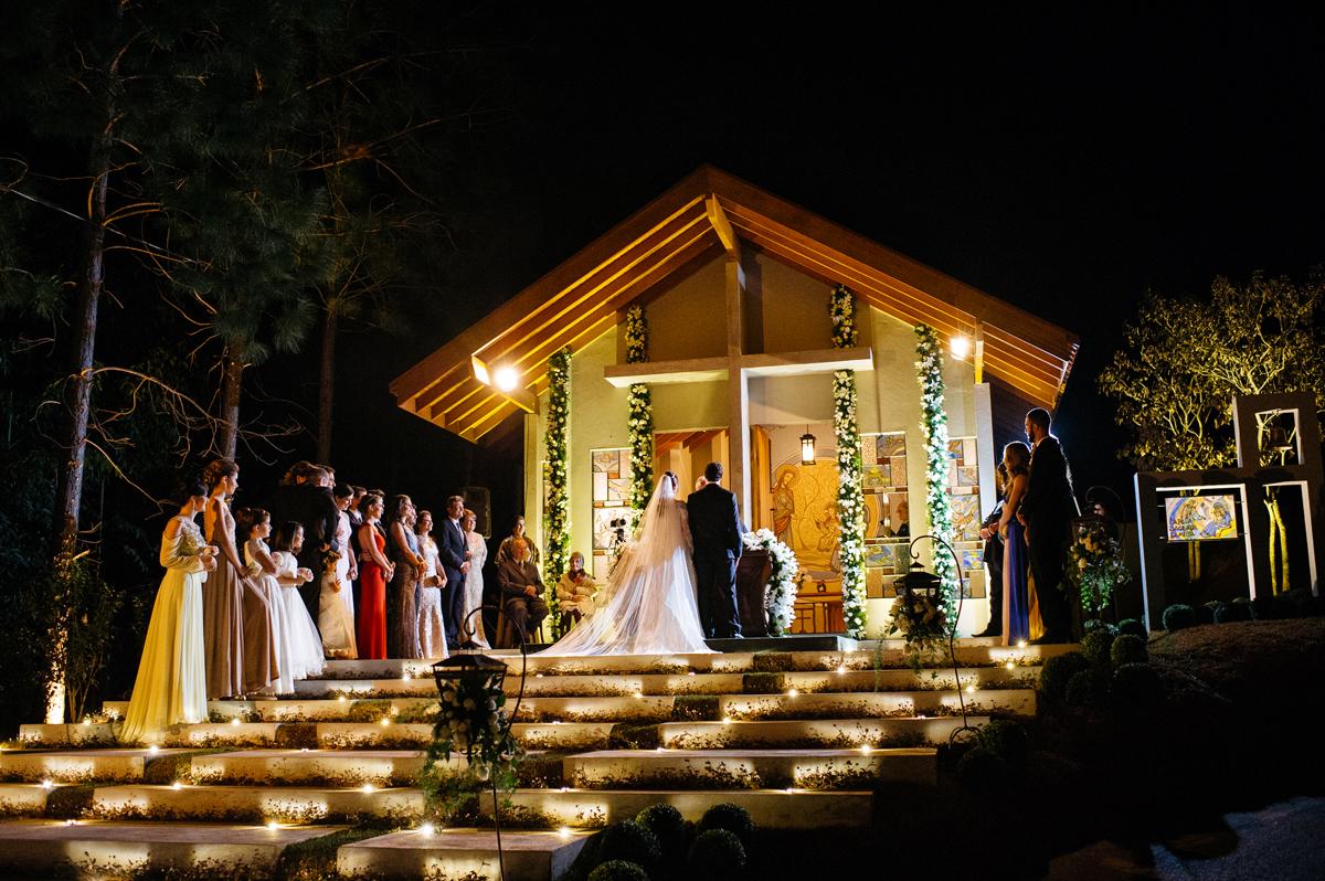 Vista da capela particular do casamento